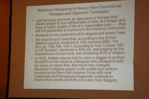 slide talks about alt med ideas