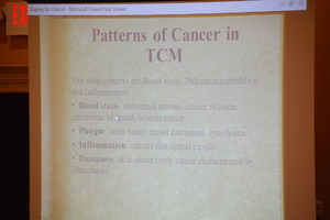 Patterns of Cancer in TCM